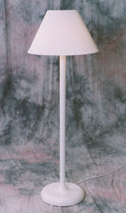 Back To Top, Traditional Shade Lamp   White   Model 110
